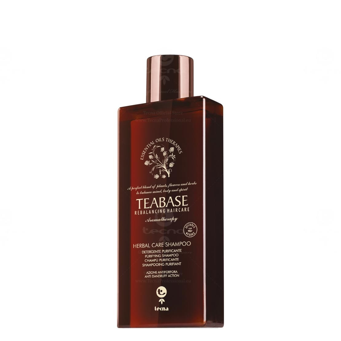 Shampoo Herbal Care Teabase di Tecna antiforfora