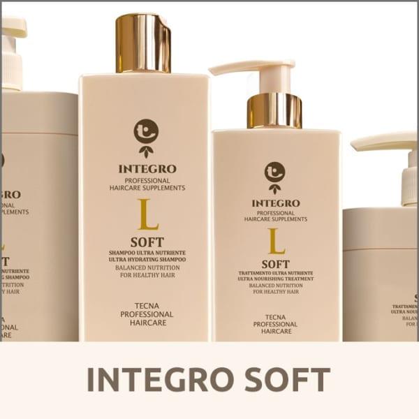 Integro Soft di Tecna per curare i capelli secchi rigidi e che si spezzano