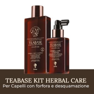 Kit Herbal Care Teabase di Tecna per eliminare la forfora e la desquamazione del cuoio capelluto a base di tea tree oil
