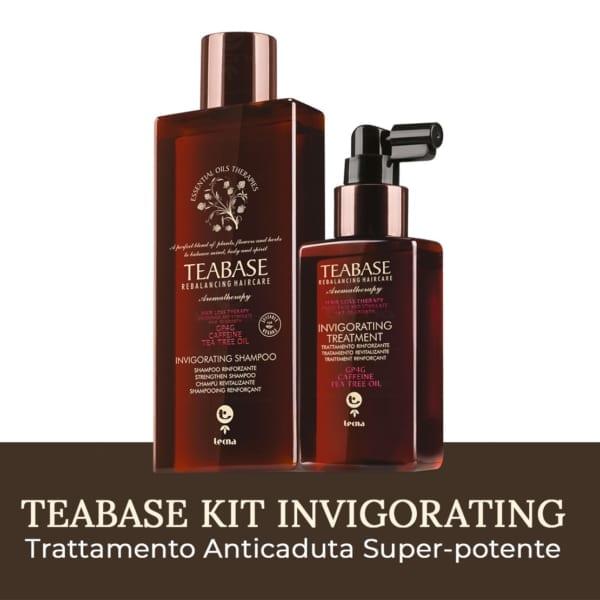 Kit Teabase Invigorating di Tecna per la caduta dei capelli a base di tea tree oil